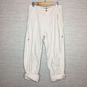 Royal Robbins Sz 8 Roll Up Khaki Capri Pants Nylon